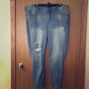 Torrid Bombshell skinny jeans size 24R